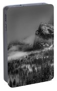 Enchanted Valley In Black And White Portable Battery Charger