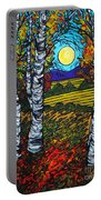 End Of Summer Birches Portable Battery Charger