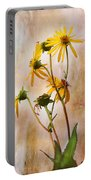 End Of Summer Bouquet Portable Battery Charger