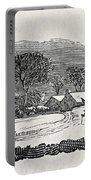 Endpiece, Late 18th Or Early 19th Century Wood Engraving 99;landscape; Winter; Figure; Snow; Snowy; Portable Battery Charger
