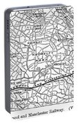 England Railroad Map Portable Battery Charger