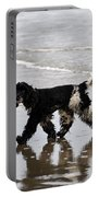 English Cocker Spaniel On The Beach Portable Battery Charger