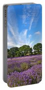 English Lavender Fields In Hampshire Portable Battery Charger