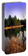 Enjoying The View At Grace Lake Portable Battery Charger