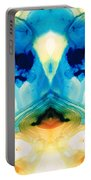 Enlightenment - Abstract Art By Sharon Cummings Portable Battery Charger