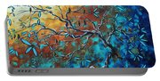 Enormous Abstract Bird Art Original Painting Where The Heart Is By Madart Portable Battery Charger