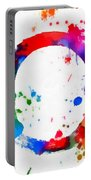 Enso Circle Paint Splatter Portable Battery Charger