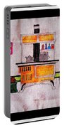 Enterprise Woodstove - Yellow Portable Battery Charger by Barbara Griffin