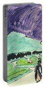 Entrance To A Large Garden In Dresden Portable Battery Charger by Ernst Ludwig Kirchner