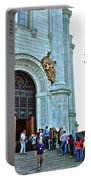 Entrance To Christ The Savior Cathedral In Moscow-russia Portable Battery Charger
