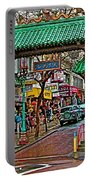 Entry Gate To Chinatown In San Francisco-california Portable Battery Charger