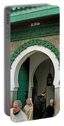 Entry To A Mosque For Men Only In Tangiers-morocco Portable Battery Charger