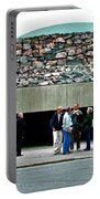 Entry To Church In The Rock In Helsinki-finland Portable Battery Charger