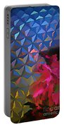 Epcot Centre Abstract Portable Battery Charger