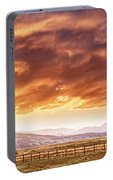 Epic Colorado Country Sunset Landscape Panorama Portable Battery Charger