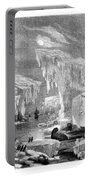 Erebus And Terror In The Ice 1866 Portable Battery Charger