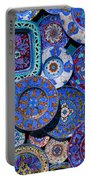 Erice Italy Plates Blue Portable Battery Charger
