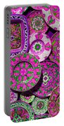 Erice Sicily Plates Pink Portable Battery Charger