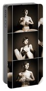 Erotic Beauty Collage 14 Portable Battery Charger