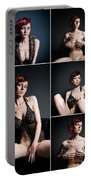 Erotic Beauty Collage 23 Portable Battery Charger