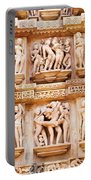 Erotic Human Sculptures Khajuraho India Portable Battery Charger
