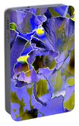 Etchings Of Purple And Green Portable Battery Charger