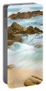 Eternal Waves At Asilomar Beach In Monterey Bay. Portable Battery Charger