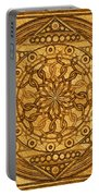 Eternity Mandala Leather Portable Battery Charger