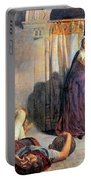 Eve Of Saint Agnes The Flight Of Madelein The Drunkenness Attending The Revelry Portable Battery Charger