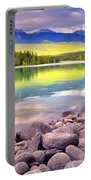 Evening At Lake Annette Portable Battery Charger