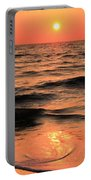 Evening Beach Stroll Portable Battery Charger by Adam Jewell