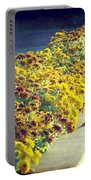 Evening Flowers Portable Battery Charger