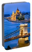 Evening In Budapest Portable Battery Charger