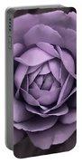 Evening Lavender Rose Flower Portable Battery Charger