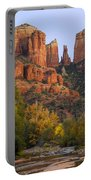 Evening Light On Cathedral Rock Portable Battery Charger
