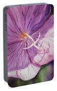 Evening Primrose Flower Portable Battery Charger