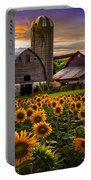 Evening Sunflowers Portable Battery Charger