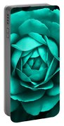 Evening Teal Rose Flower Portable Battery Charger