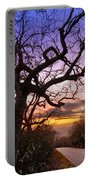 Evening Tree Portable Battery Charger by Debra and Dave Vanderlaan