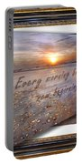 Every Morning Brings A New Beginning II Portable Battery Charger