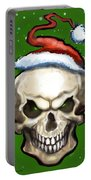 Evil Christmas Skull Portable Battery Charger