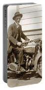 Excalibur Motorcycle Circa 1920 Portable Battery Charger
