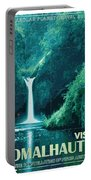 Exoplanet 04 Travel Poster Fomalhaut B Portable Battery Charger by Chungkong Art