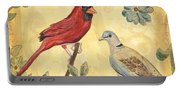 Exotic Bird Floral And Vine 2 Portable Battery Charger
