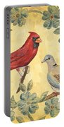 Exotic Bird Floral And Vine 2 Portable Battery Charger by Debbie DeWitt