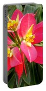 Exotic Red Flower Portable Battery Charger