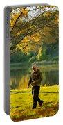Exploring Autumn Light Portable Battery Charger by Steve Harrington
