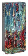 Expressionist Cat Oil Painting.1 Portable Battery Charger
