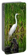 Exquisite Egret Portable Battery Charger