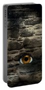 Eye In Brick Wall Portable Battery Charger